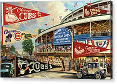 Vintage Chicago Cubs Acrylic Print by Steven Parker