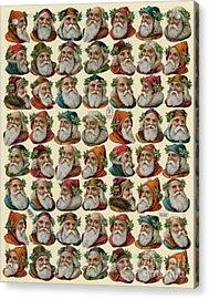 Vintage Christmas Card With Santa Claus Acrylic Print
