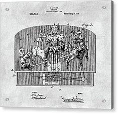 Vintage Circus Toy Patent Acrylic Print