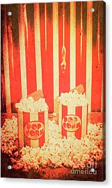 Vintage Classical Cinema Interval Concept Acrylic Print