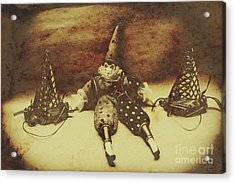Vintage Clown Doll. Old Parties Acrylic Print