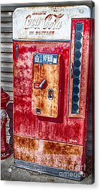 Vintage Coca-cola Machine 10 Cents Acrylic Print