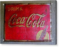 Vintage Coca-cola Sign Acrylic Print