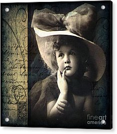 Vintage Collage 21 Acrylic Print by Angelina Cornidez