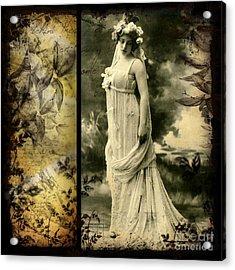 Vintage Collage 24 Acrylic Print by Angelina Cornidez