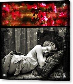 Vintage Collage 7 Acrylic Print by Angelina Cornidez