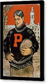 Vintage College Football Princeton Acrylic Print by Edward Fielding