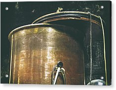 Vintage Copper Wine Making Equipment Acrylic Print by Georgia Fowler