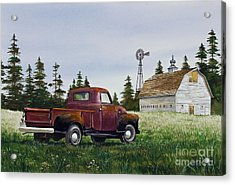 Acrylic Print featuring the painting Vintage Country Pickup by James Williamson