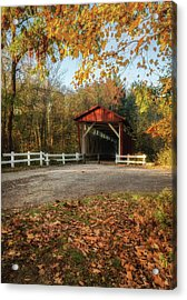 Acrylic Print featuring the photograph Vintage Covered Bridge by Dale Kincaid