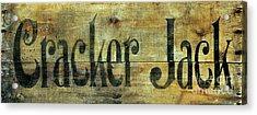 Vintage Cracker Jack Sign Acrylic Print