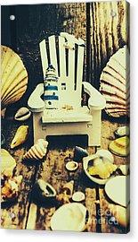 Vintage Cruise Deck Details Acrylic Print