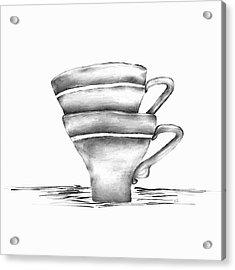 Vintage Cups Acrylic Print