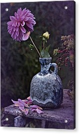 Acrylic Print featuring the photograph Vintage Dahlia Still Life by Richard Cummings