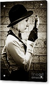 Vintage Detective Acrylic Print by Jorgo Photography - Wall Art Gallery