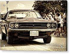Vintage Dodge Charger Acrylic Print by Andre Babiak