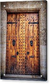 Vintage Door In Valencia Spain  Acrylic Print
