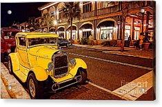 Vintage Dreams And City Lights Acrylic Print