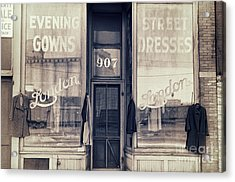 Vintage Dress Shop Acrylic Print by Mindy Sommers
