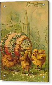 Vintage Easter Greeting Acrylic Print