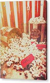 Vintage Entertainment Background Acrylic Print