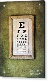 Vintage Eye Chart Acrylic Print