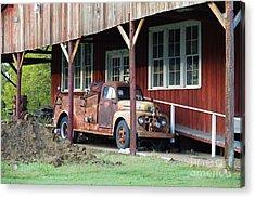 Vintage F5 Fire Truck - Tanker Truck Acrylic Print