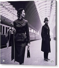 Vintage Fashion Elegant Lady Acrylic Print by Mindy Sommers