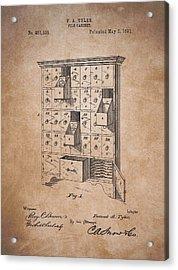 Vintage Filing Cabinet Patent Acrylic Print