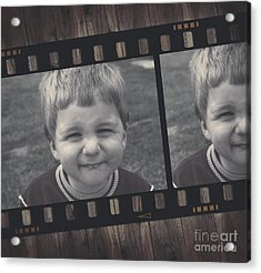 Vintage Filmstrip Boy Smiling For The Camera Acrylic Print