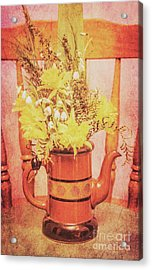Vintage Fine Art Still Life With Daffodils Acrylic Print by Jorgo Photography - Wall Art Gallery