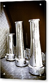 Vintage Fire Hose Nozzles Acrylic Print by Diane Payne