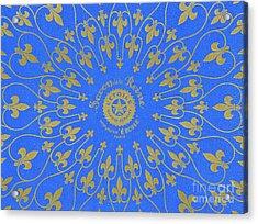 Vintage Fleur De Lis Pattern Design Acrylic Print