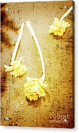 Vintage Floating River Flowers Acrylic Print by Jorgo Photography - Wall Art Gallery