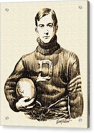 Vintage Football Acrylic Print by Harry West