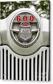 Vintage Ford 600 Nameplate Emblem Acrylic Print by Edward Fielding