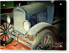 Vintage Ford Acrylic Print by Inspirational Photo Creations Audrey Woods