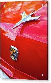 Acrylic Print featuring the photograph Vintage Ford Hood Ornament Havana Cuba by Charles Harden