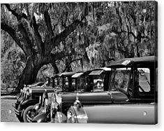 Vintage Ford Line-up At Magnolia Plantation - Charleston Sc Acrylic Print