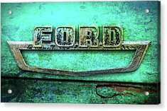 Vintage Ford Truck Logo  Acrylic Print by Terry DeLuco