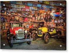 Acrylic Print featuring the photograph Vintage Fords Collectibles by Debra and Dave Vanderlaan