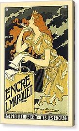 Vintage French Advertising Art Nouveau Encre L'marquet Acrylic Print