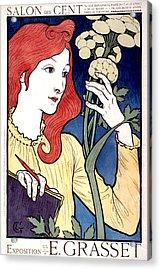 Vintage French Advertising Art Nouveau Salon Des Cent Acrylic Print