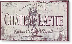 Vintage French Wine Sign Acrylic Print