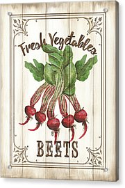 Acrylic Print featuring the painting Vintage Fresh Vegetables 1 by Debbie DeWitt