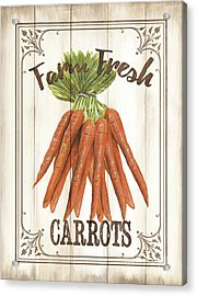 Vintage Fresh Vegetables 3 Acrylic Print