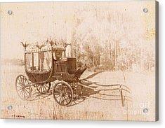 Vintage Funeral Hearse Acrylic Print