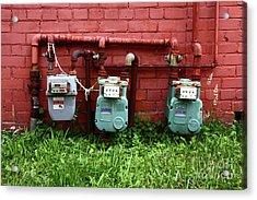 Vintage Gas Meters Acrylic Print