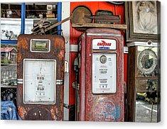 Vintage Gas Pumps Acrylic Print