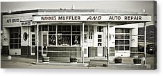 Vintage Gas Station Acrylic Print by Marilyn Hunt